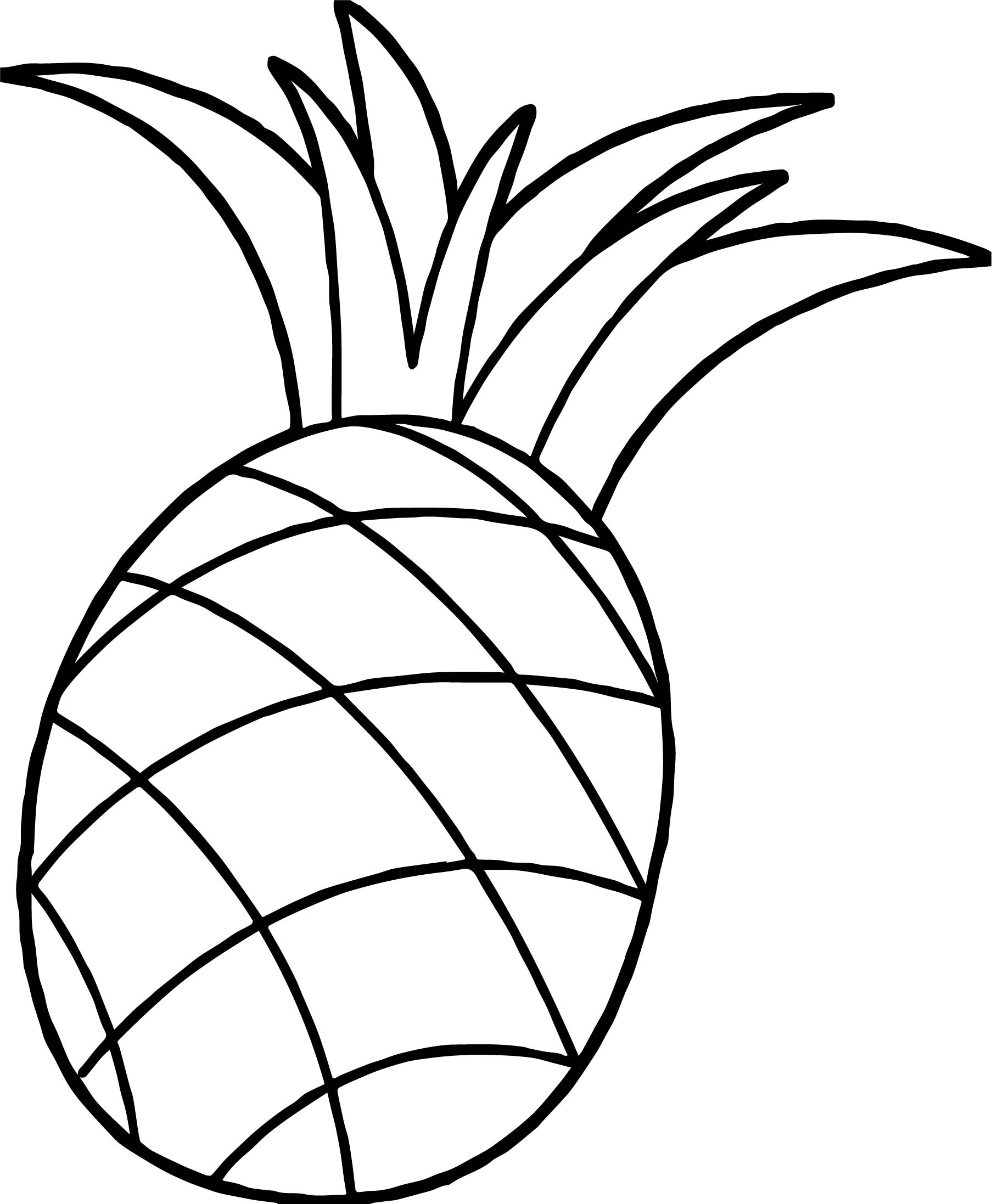 pineapple colouring picture pineapple printable coloring drawing pages for kids colouring pineapple picture