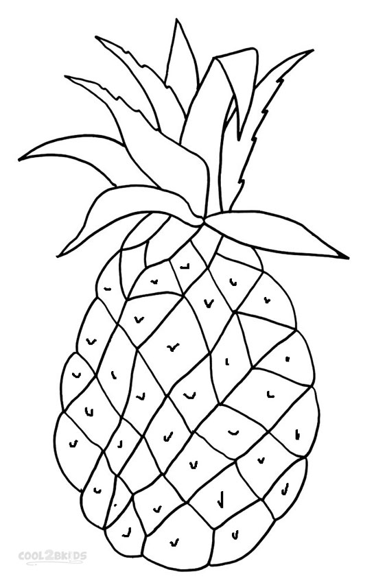 pineapple colouring picture printable pineapple coloring pages for kids cool2bkids pineapple colouring picture