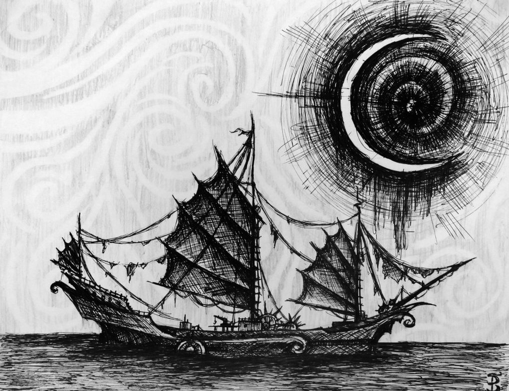 pirate boat drawing hand drawn pirate ship by carbonism on deviantart drawing boat pirate