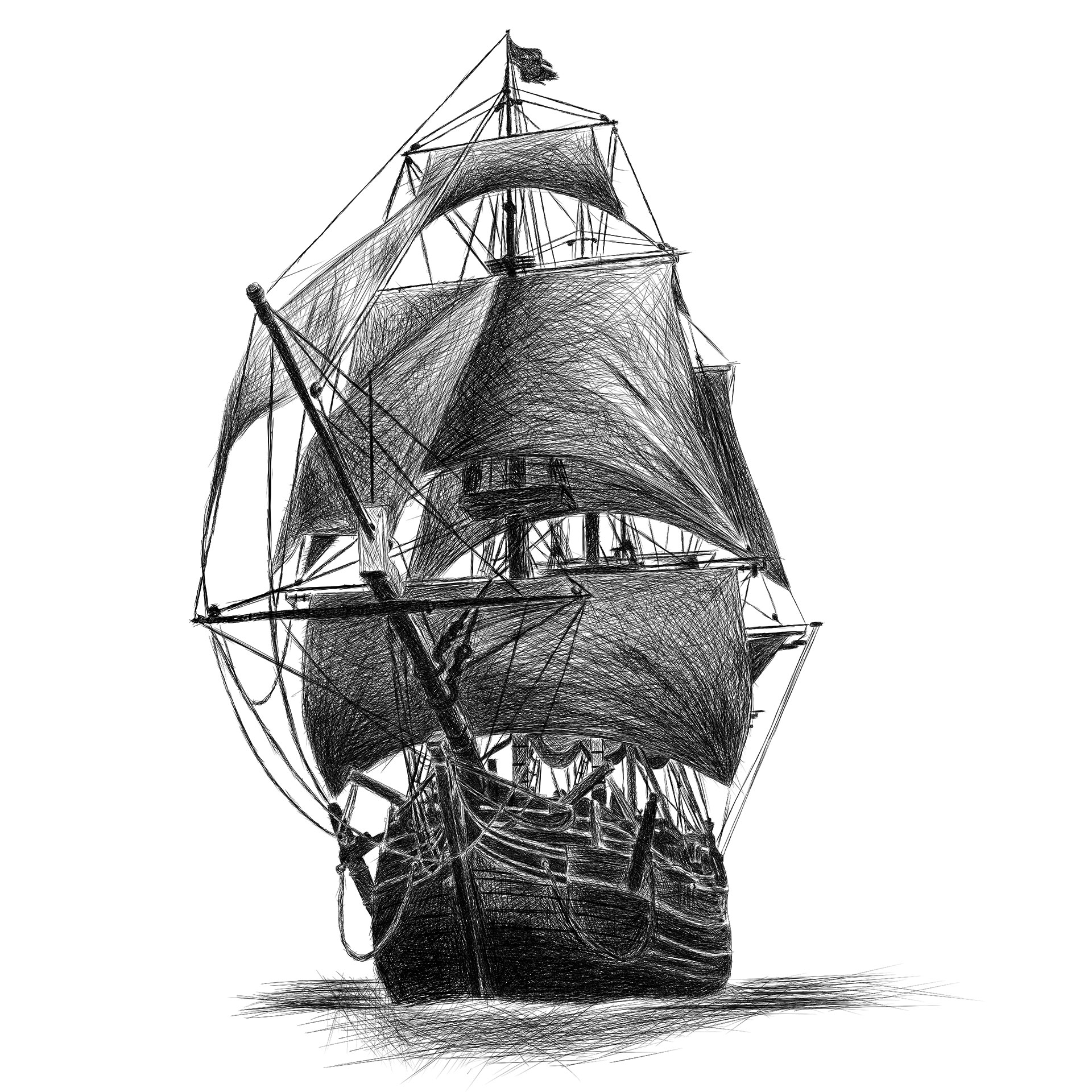 pirate boat drawing ship pencil sketch at paintingvalleycom explore pirate drawing boat