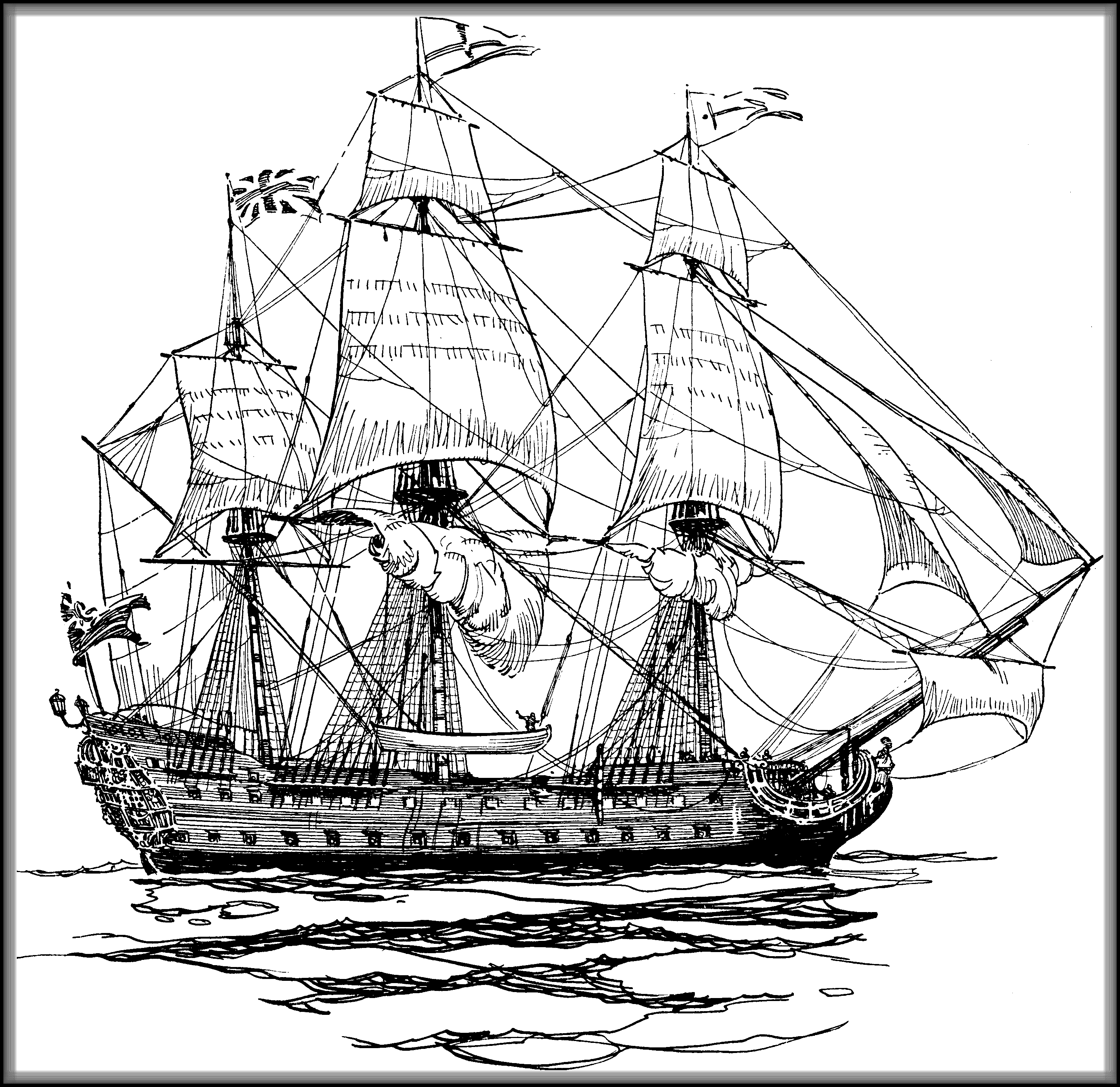 pirate ship drawing british ship of the line drawing pirate ship drawing ship pirate drawing