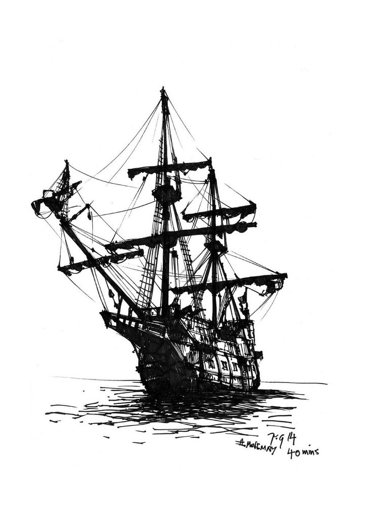 pirate ship drawing old ship line drawing frigate 001 png ship drawing pirate drawing ship