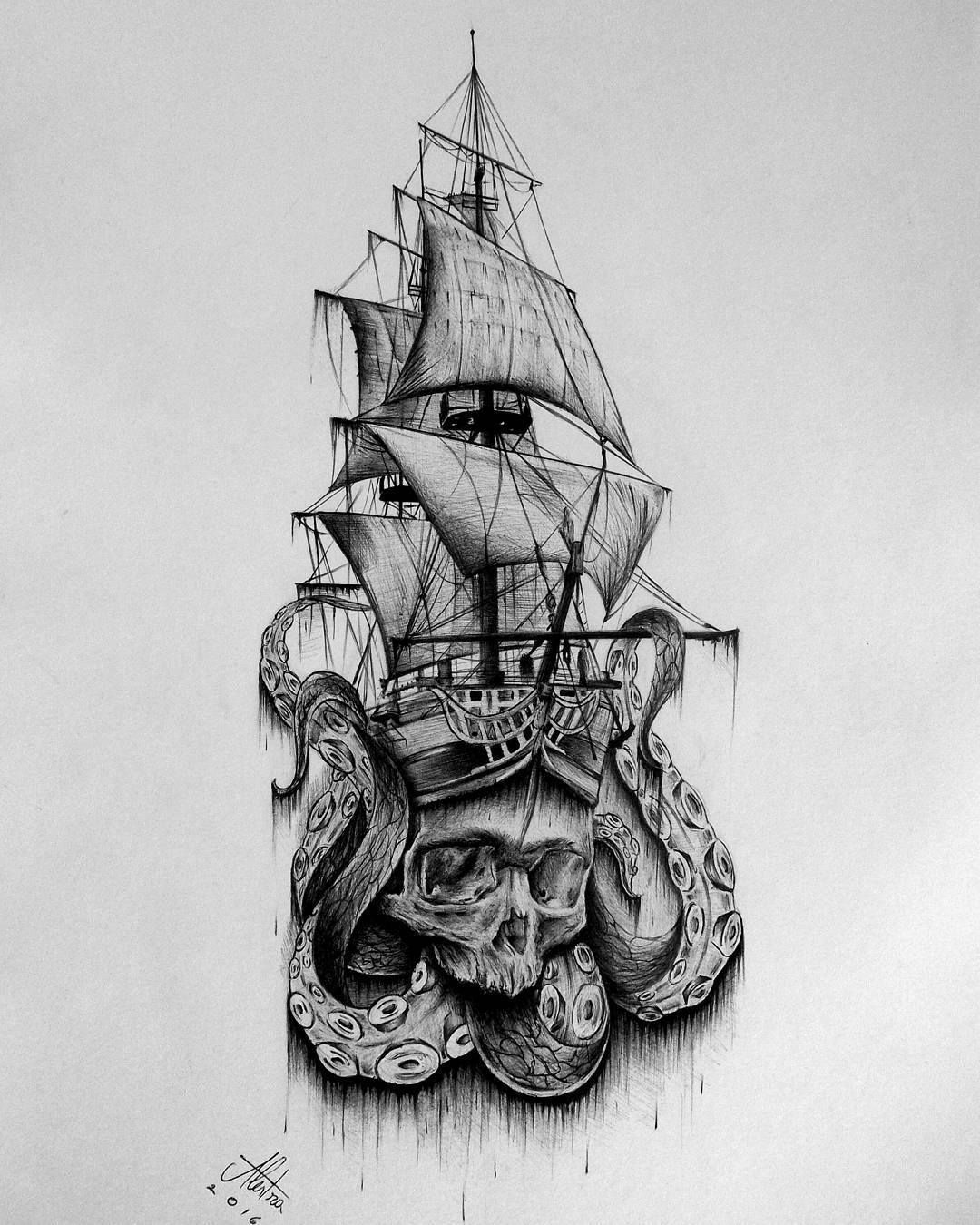 pirate ship drawing realistic pirate ship drawing at paintingvalleycom drawing pirate ship