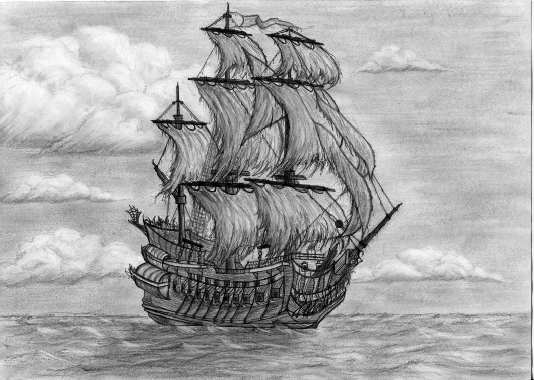 pirate ship sketch hand drawn pirate ship by carbonism on deviantart pirate sketch ship