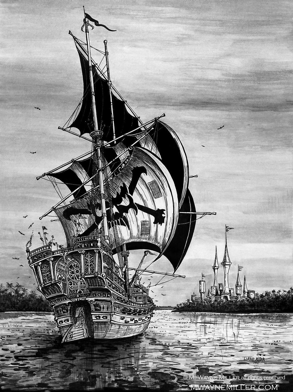 pirate ship sketch old ship line drawing frigate 001 png ship drawing sketch pirate ship