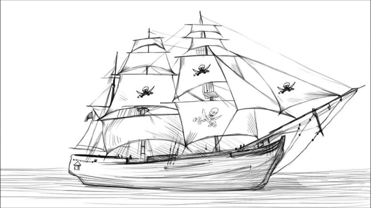 pirate ship sketch ship line drawing at paintingvalleycom explore ship sketch pirate