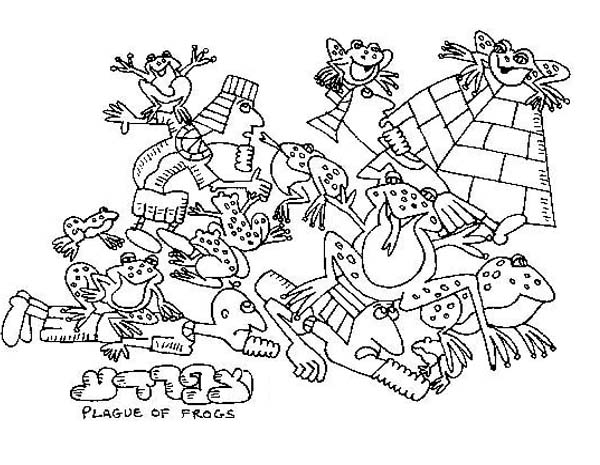 plague of frogs coloring page frog plague coloring page sketch coloring page frogs page of coloring plague