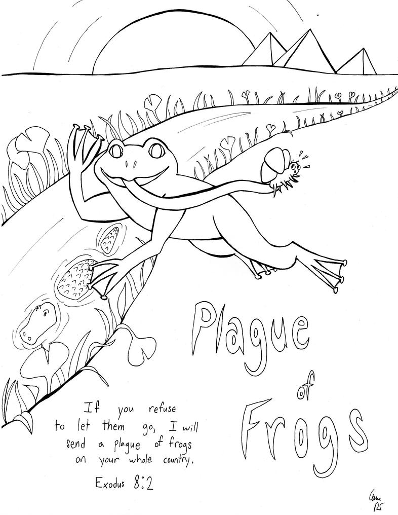 plague of frogs coloring page frog plague coloring page sketch coloring page page plague of coloring frogs