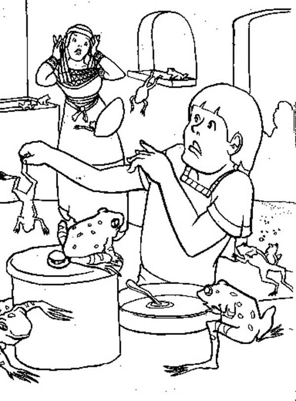 plague of frogs coloring page plague of frogs 26004jpg 750531 pixels frosch page frogs coloring plague of