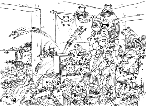 plague of frogs coloring page plague of frogs coloring page supercoloringcom of plague page frogs coloring