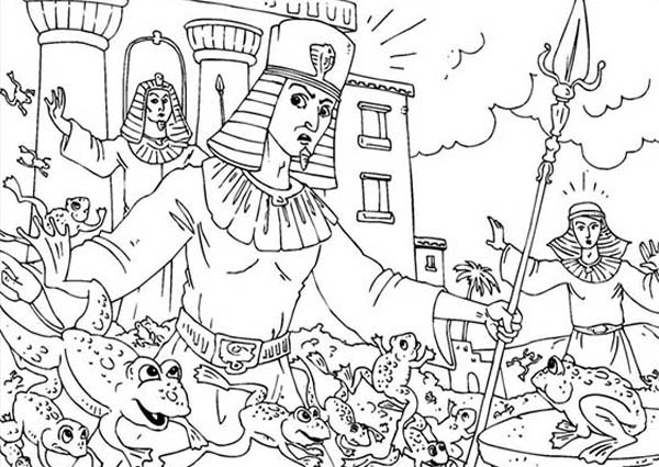 plague of frogs coloring page plague of frogs colouring page this bible colouring page of plague coloring frogs page