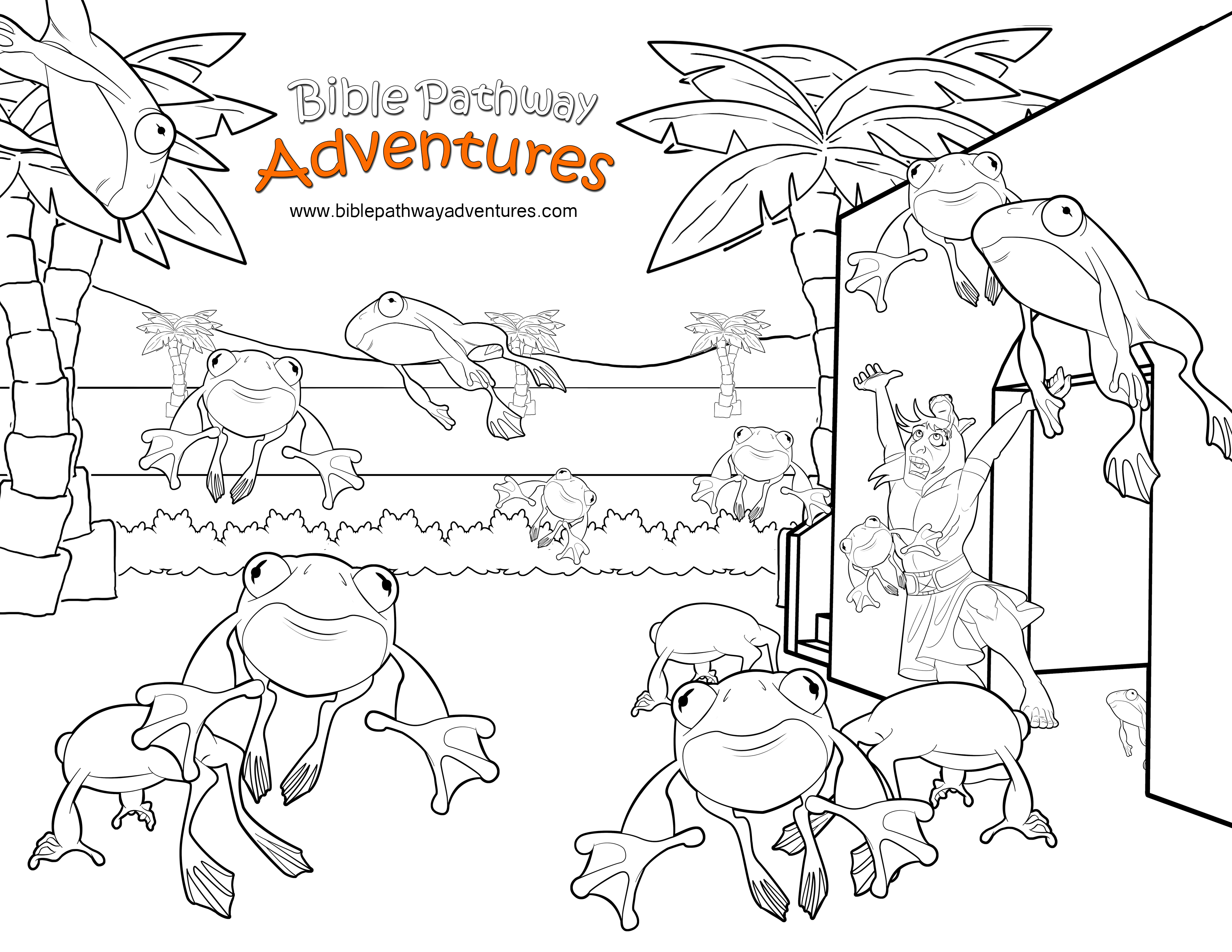 plague of frogs coloring page torah tots parsha on parade vaera frogs2htm coloring page frogs coloring of plague page