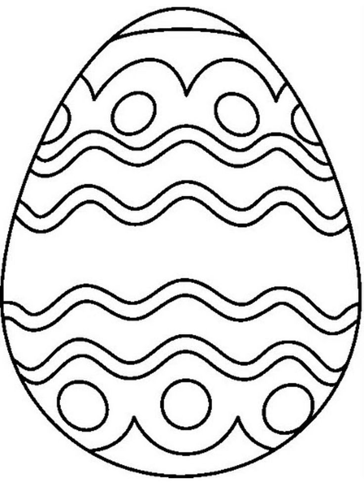 plain easter egg coloring pages easter egg coloring pages simple in 2020 easter egg egg coloring plain easter pages