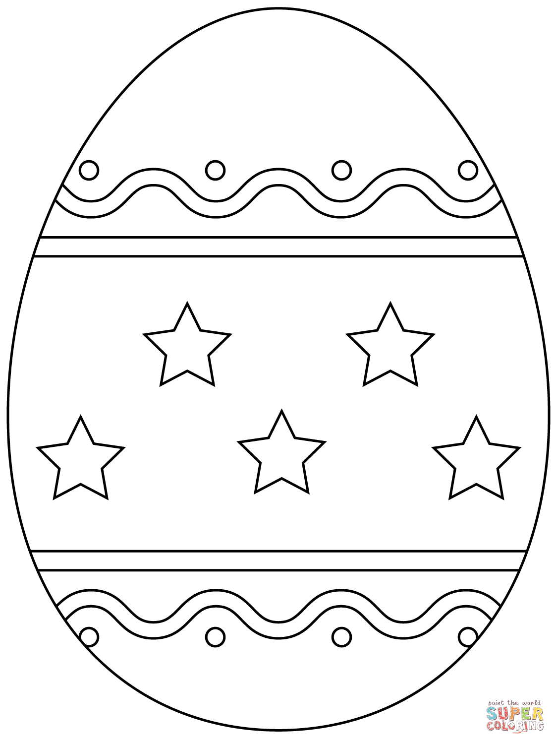 plain easter egg coloring pages easter egg with simple pattern coloring page free egg coloring easter plain pages
