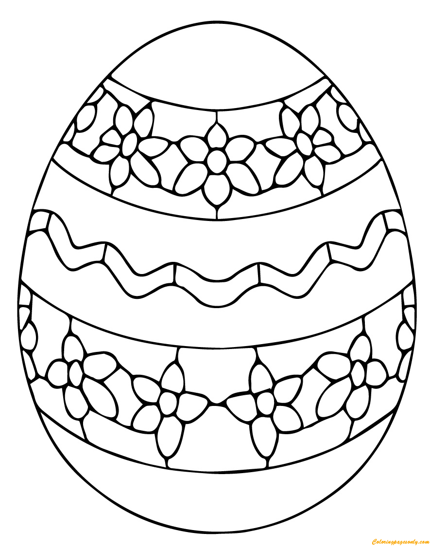 plain easter egg coloring pages simple ukrainian easter egg coloring page  free coloring coloring plain egg easter pages