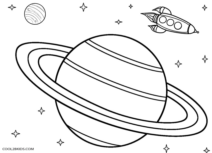 Planet coloring page