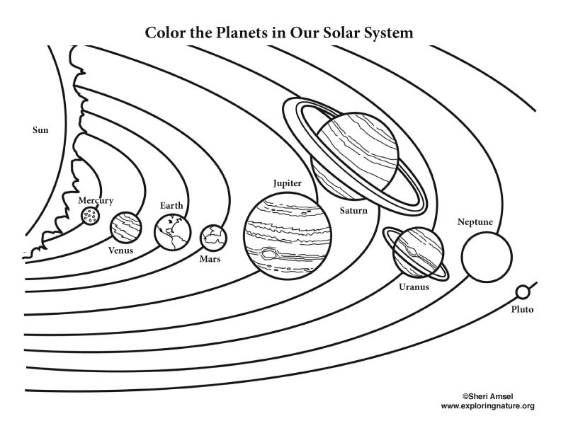 planet pictures to color color the solar system planet color pictures to