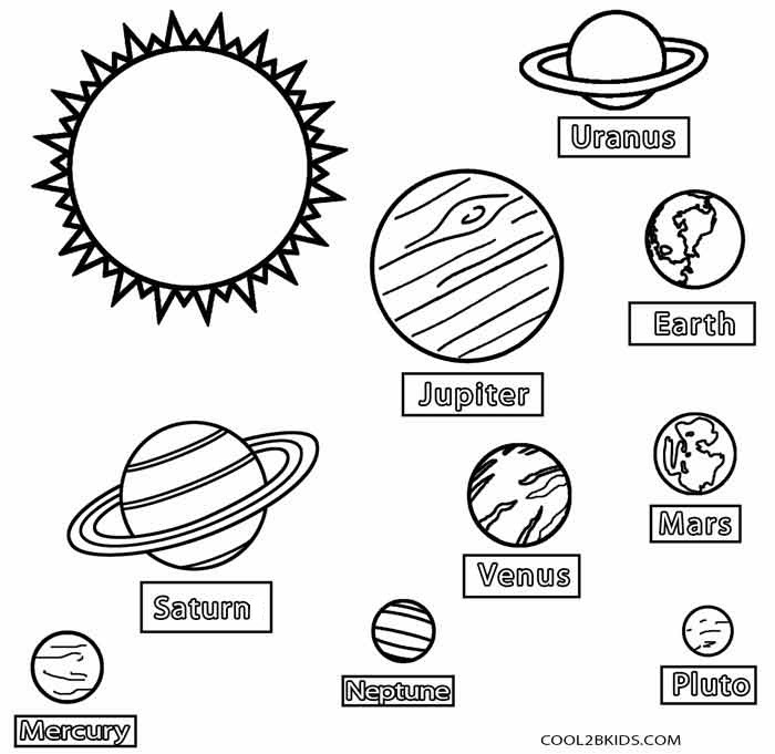 planet pictures to color printable planet coloring pages for kids to pictures planet color