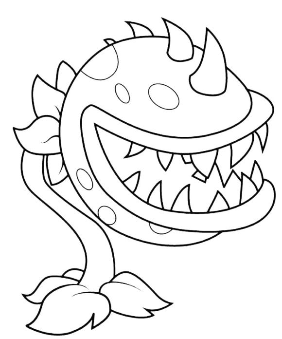 plant vs zombies 2 coloring pages pvz gw2 kleurplaat chomper threepeater coloring page free vs 2 plant pages coloring zombies