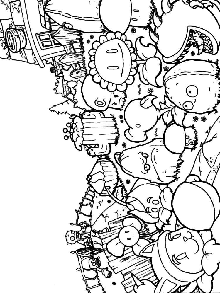 plants vs zombies coloring sheets get this plants vs zombies coloring pages to print online zombies sheets vs plants coloring