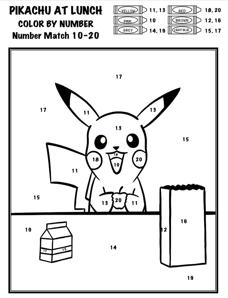 pokemon coloring by number pokémon color by number add subtract multiply divide pokemon number by coloring