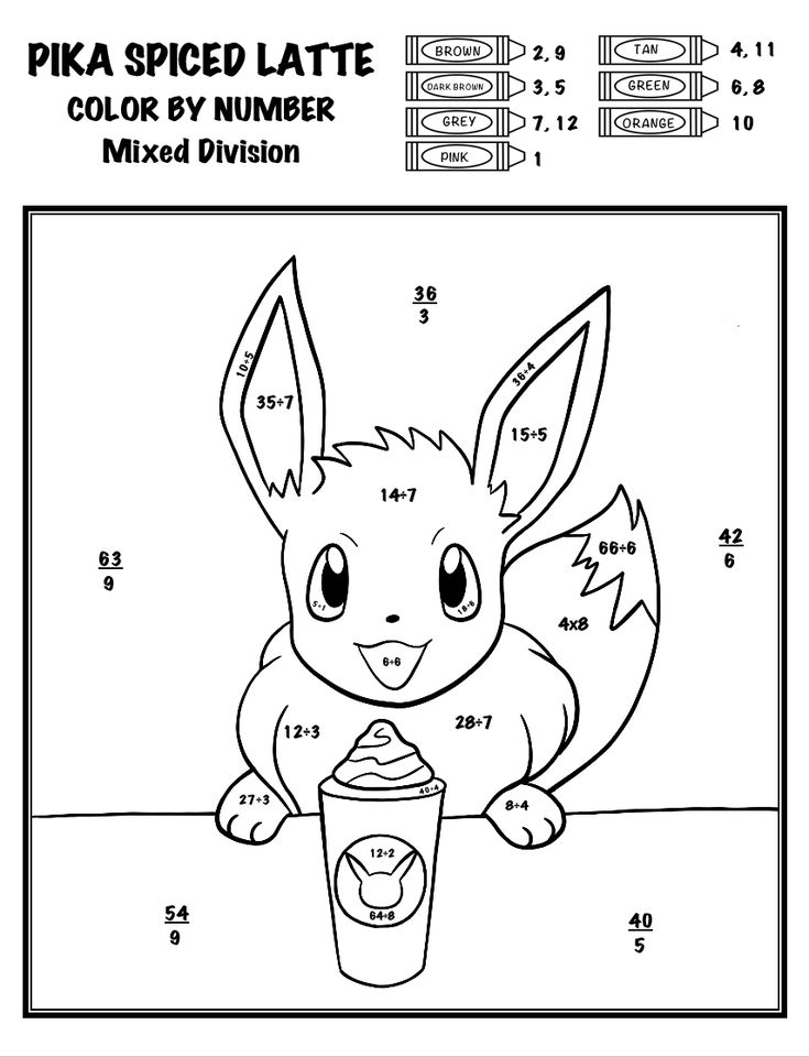 pokemon coloring by number pokemon color by number bubakidscom by pokemon number coloring
