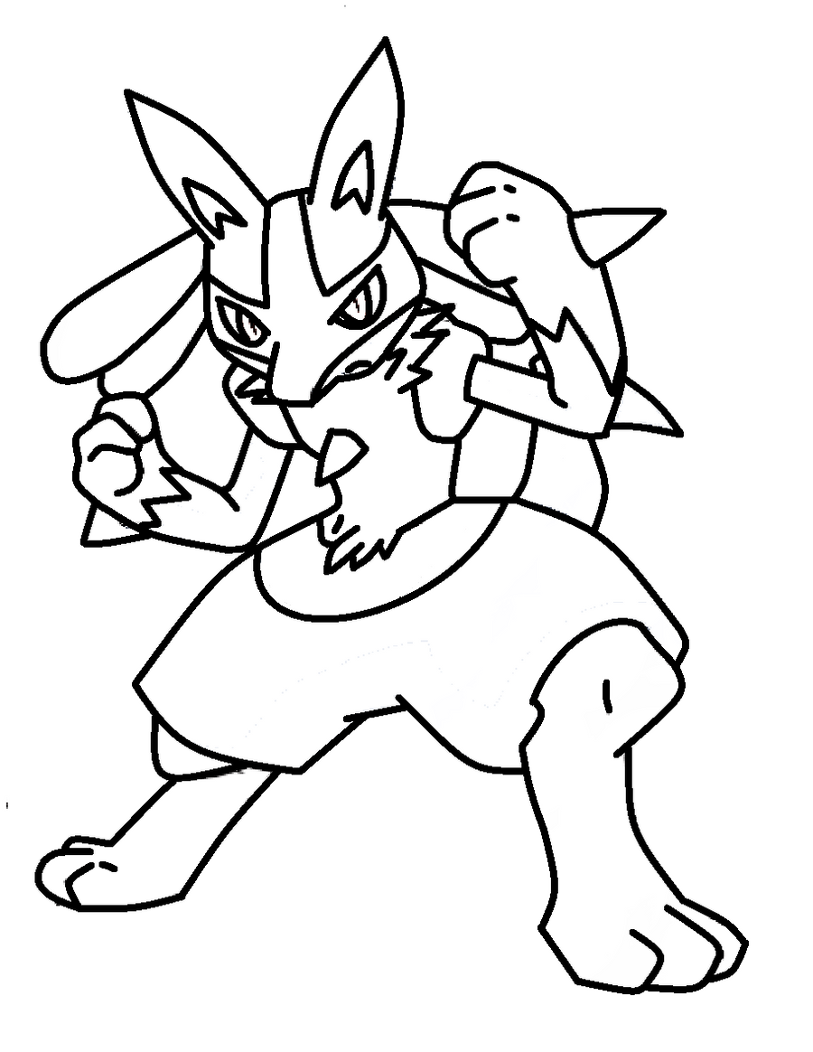 Pokemon lucario coloring pages