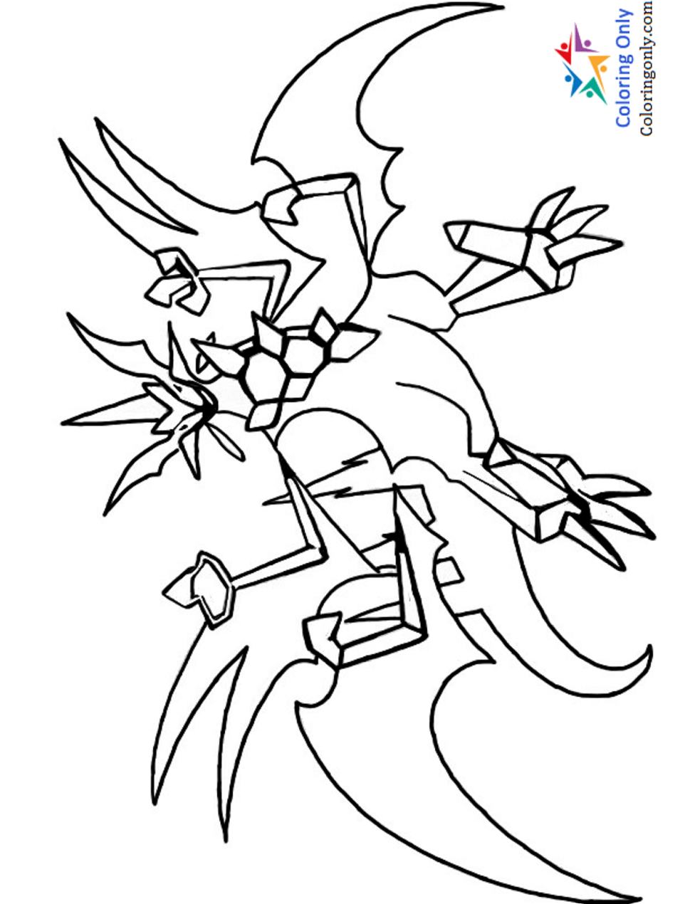 Pokemon ultra necrozma coloring pages
