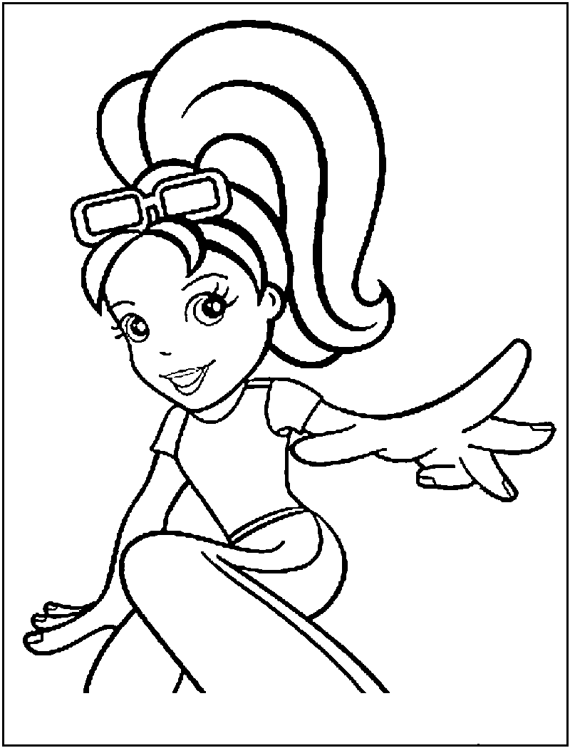 Polly pocket printable coloring pages