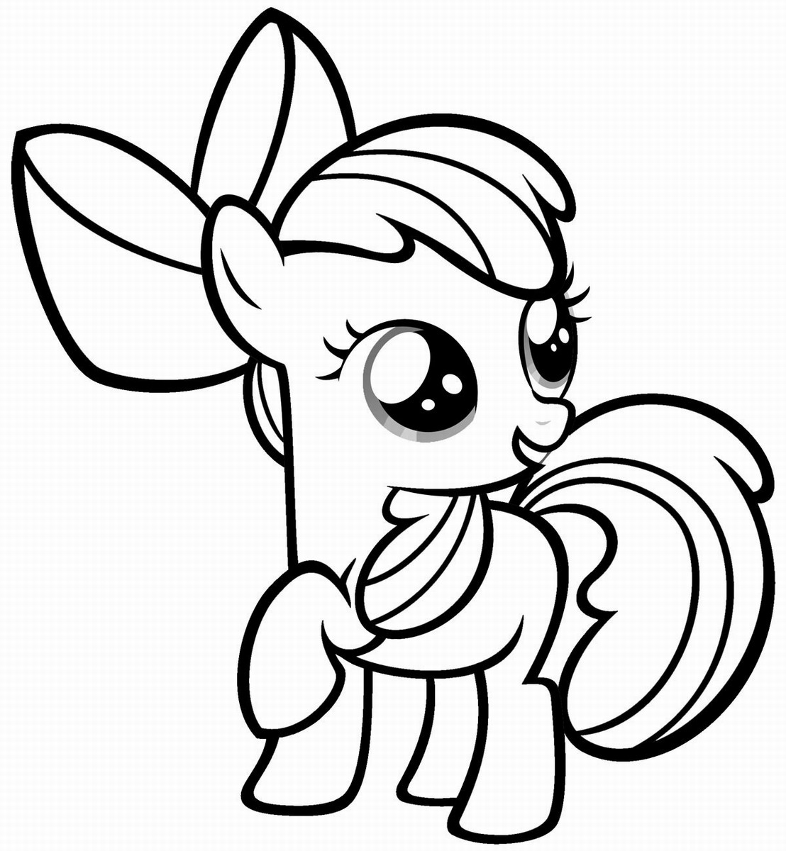 Pony colouring pictures