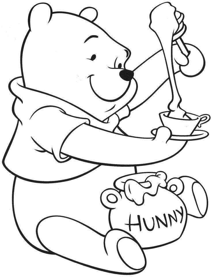 pooh bear coloring pictures 76 best winnie the pooh coloring pages images on pinterest coloring bear pooh pictures