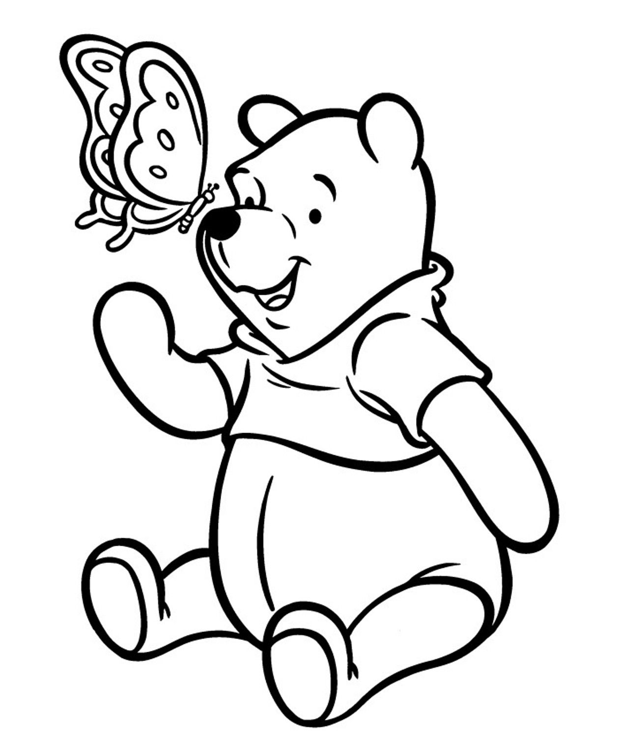 Pooh bear coloring pictures