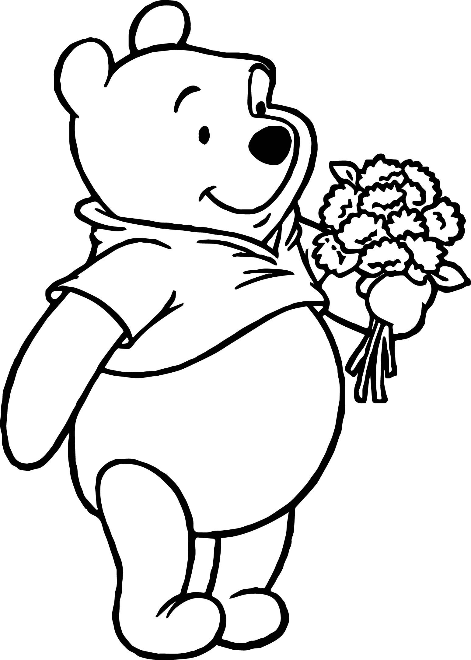 pooh bear coloring pictures winnie the pooh coloring pages with images bear bear pictures coloring pooh