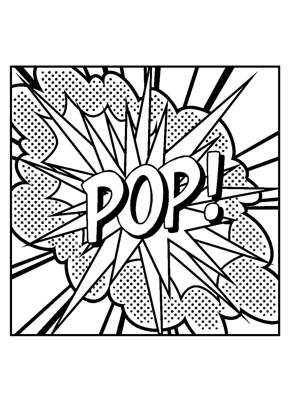 pop art coloring pages instant download coloring page comic book words by pop coloring art pages