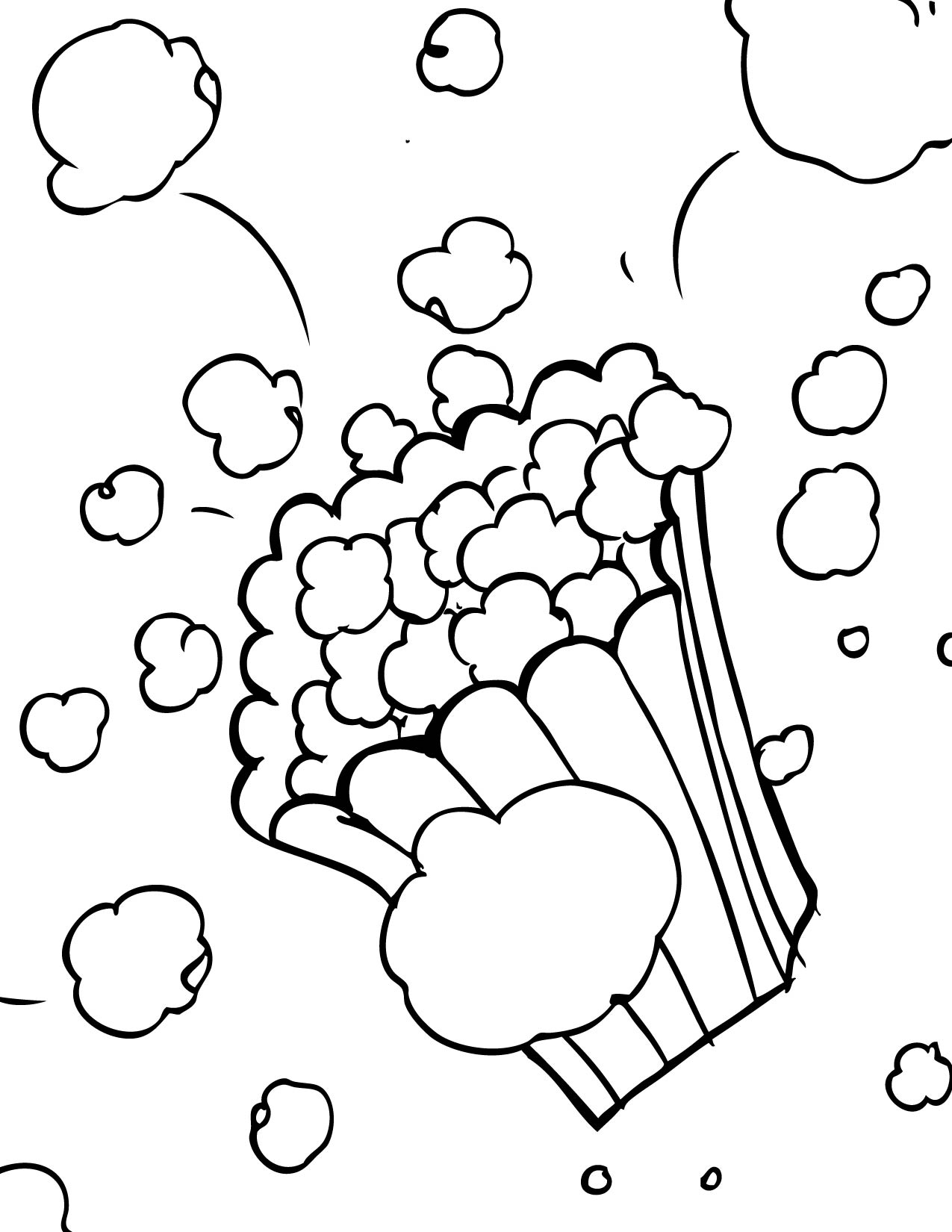 popcorn coloring pictures popcorn coloring free transparent clipart clipartkey pictures coloring popcorn
