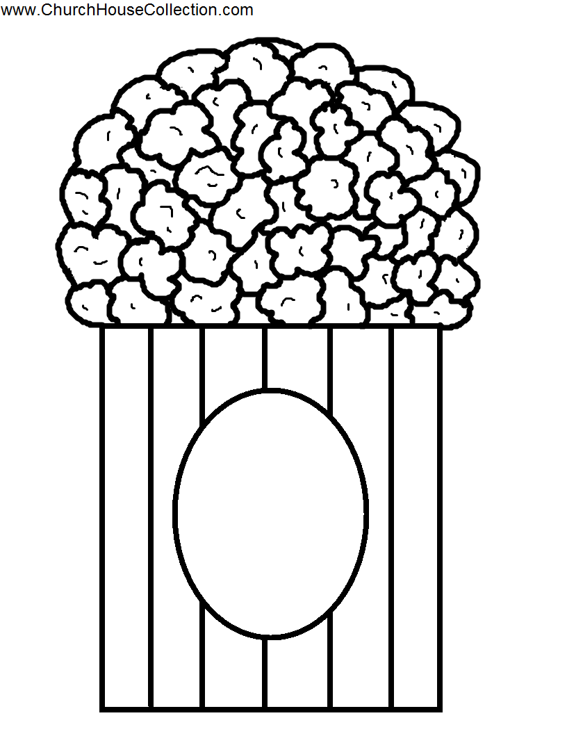 popcorn coloring pictures popcorn coloring pages coloring popcorn pictures