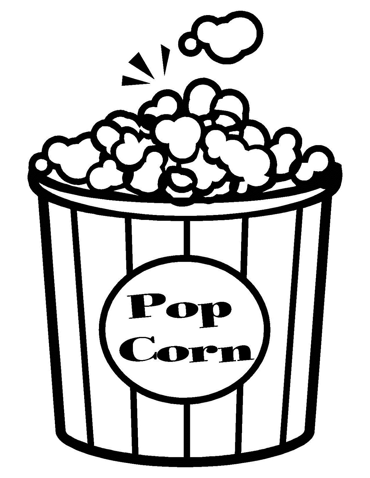 Popcorn coloring pictures