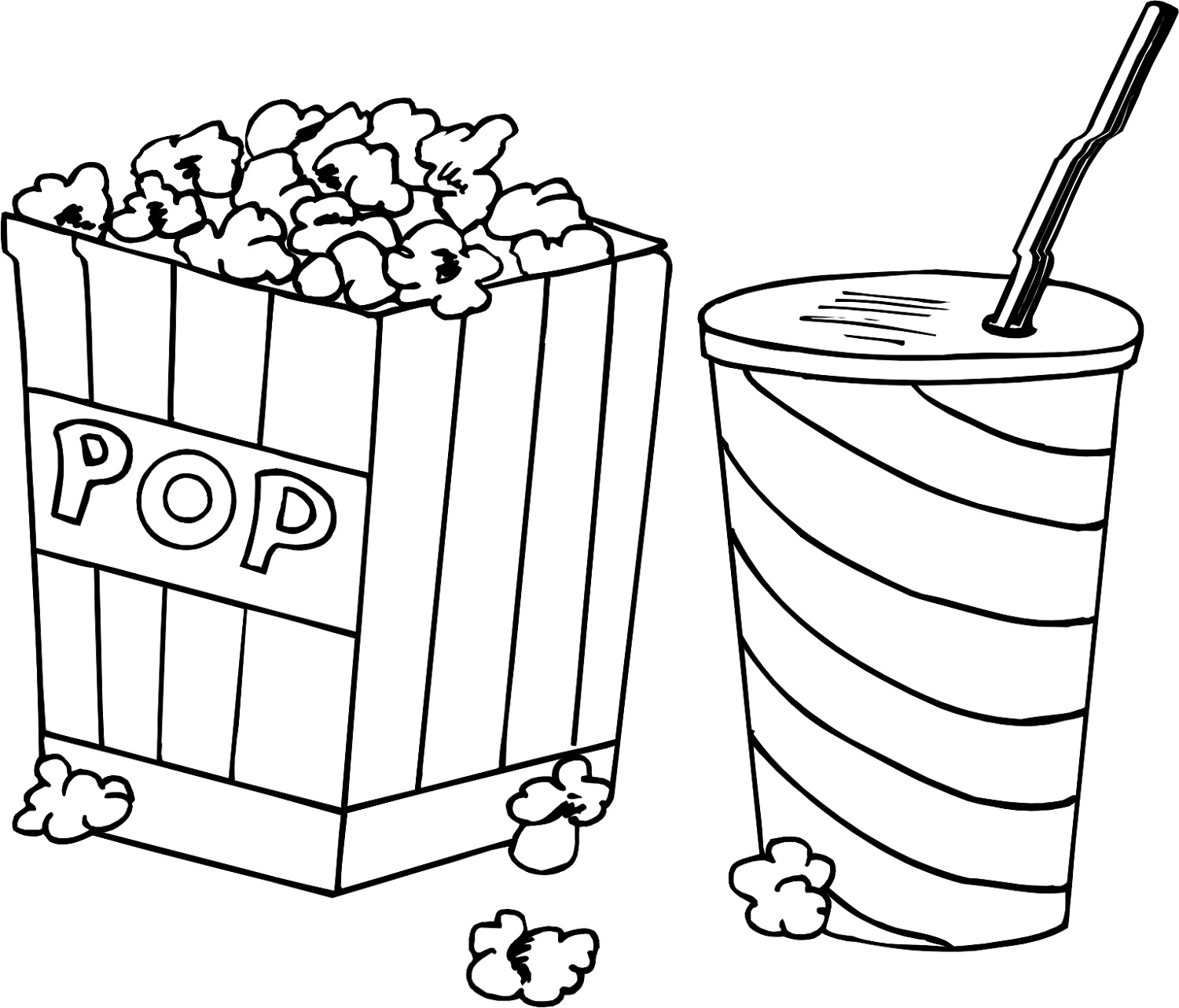 popcorn coloring pictures popcorn coloring pages for kids 101 worksheets pictures popcorn coloring