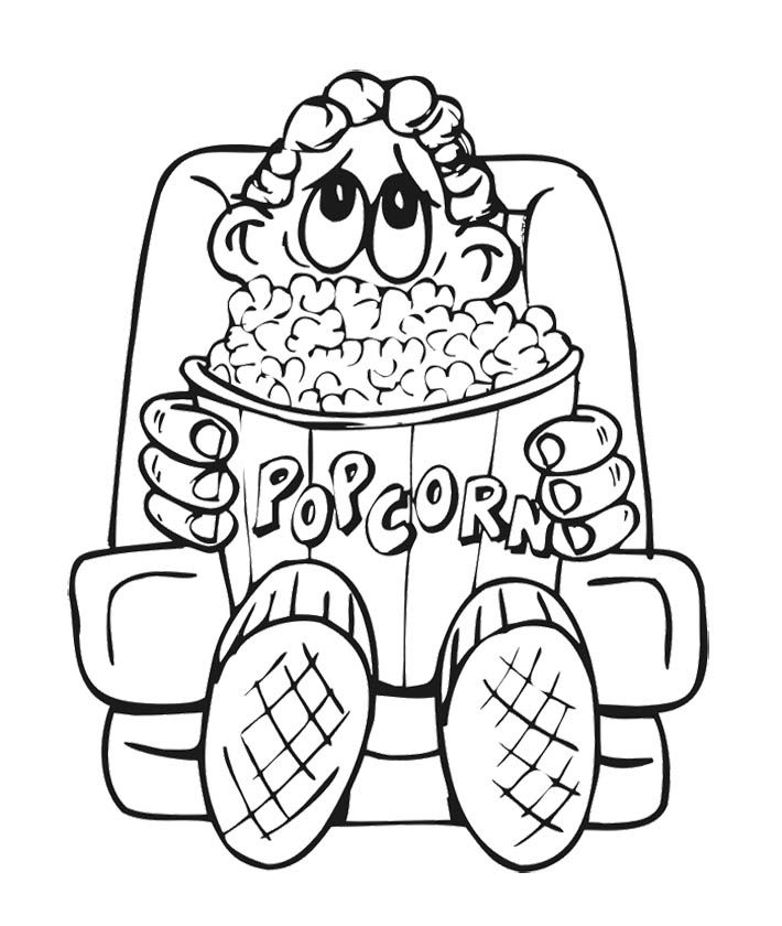 popcorn coloring pictures popcorn lovers day coloring page for kids colored popcorn popcorn pictures coloring