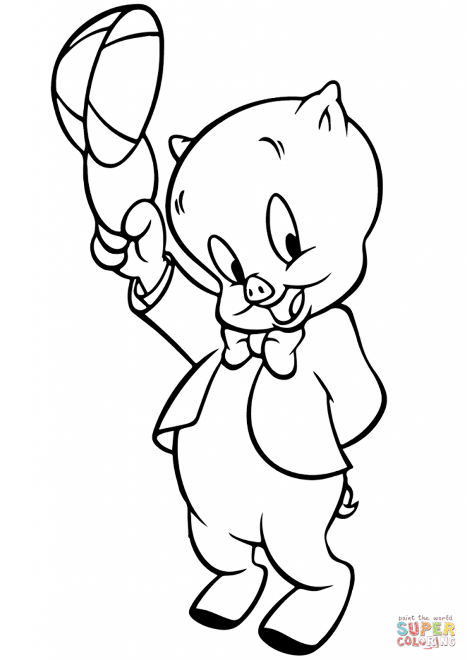 porky pig coloring pages porky pig coloring page free printable coloring pages porky pig coloring pages