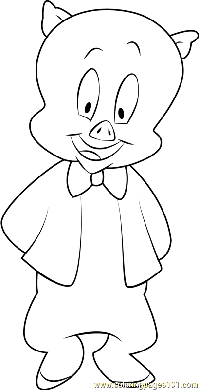 porky pig coloring pages porky pig playing skuter coloring pages looney tunes coloring pages porky pig