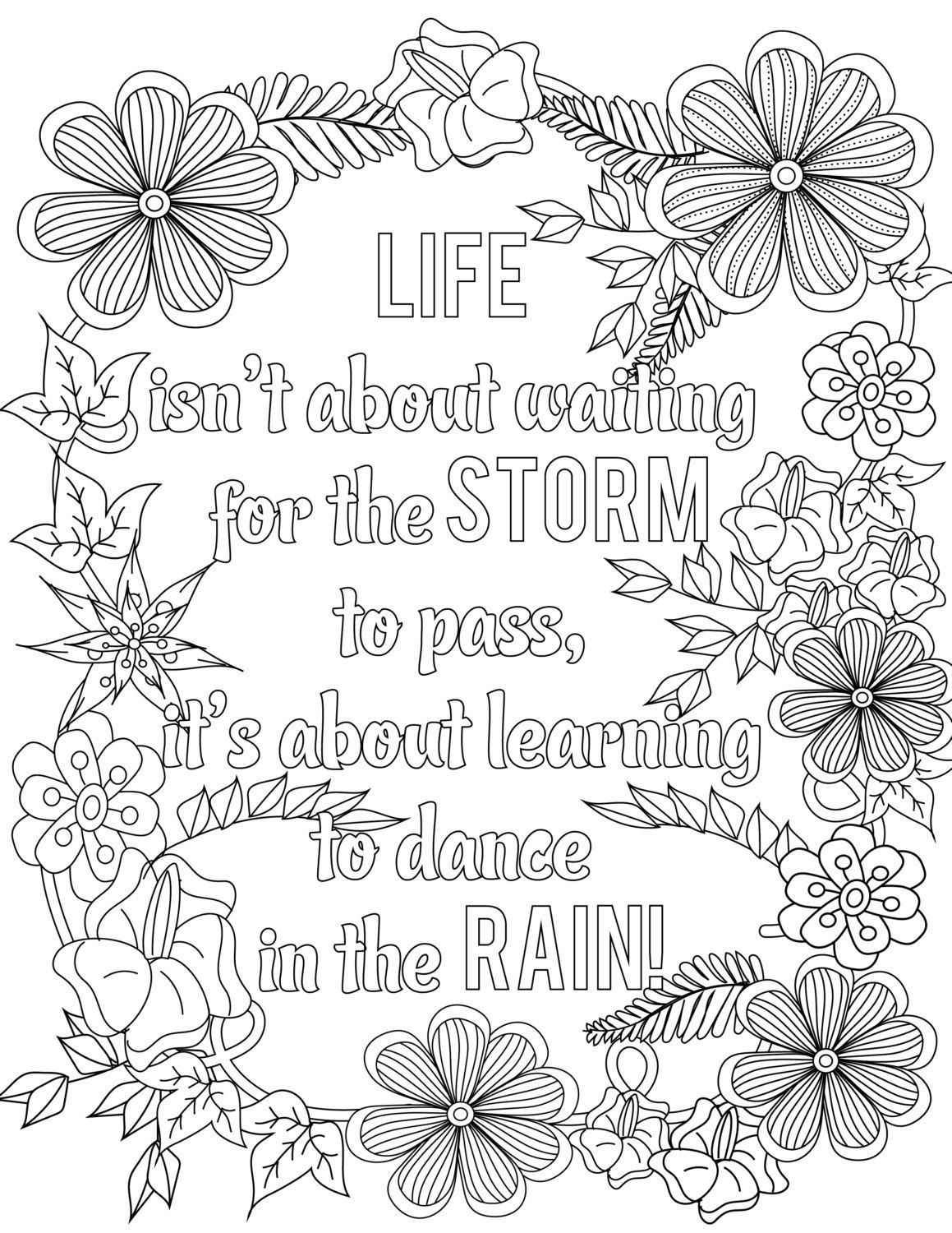 positive quote mandala coloring pages adult coloring page download i need this in my life positive mandala coloring quote pages
