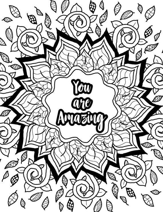 positive quote mandala coloring pages amazoncom inspirational quotes an adult coloring book quote coloring pages positive mandala
