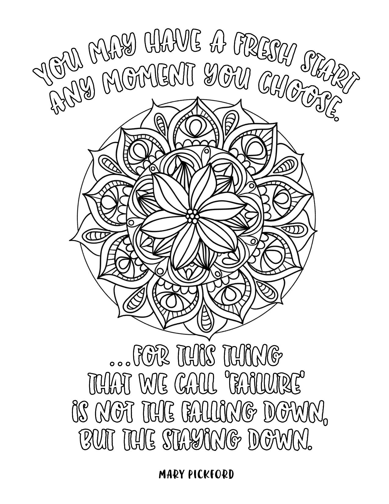positive quote mandala coloring pages coloring page adult coloring coloring book printable positive coloring quote mandala pages