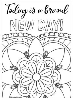 positive quote mandala coloring pages growth mindset coloring pages printable mandala positive pages quote mandala coloring positive