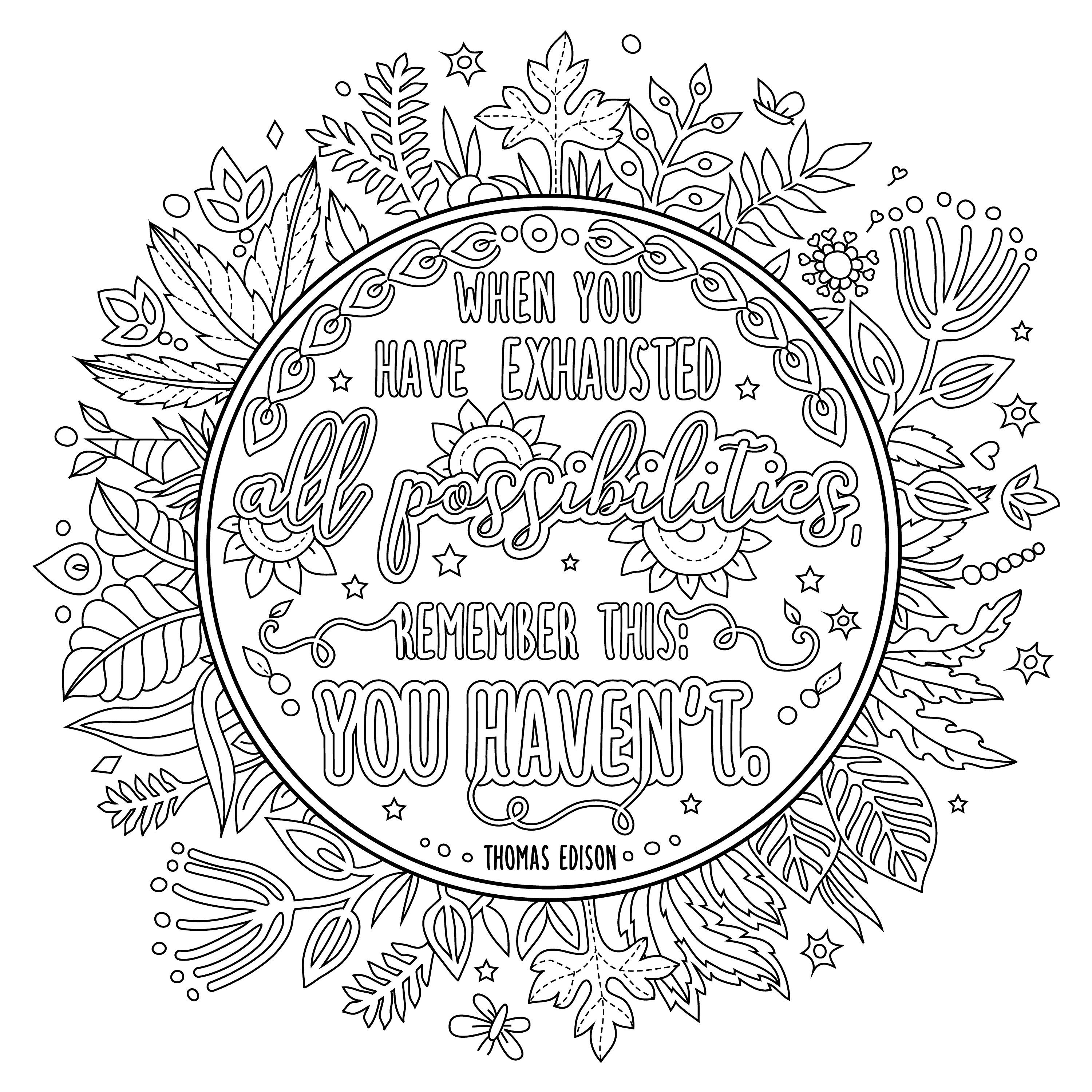positive quote mandala coloring pages inspirational colouring pages quote coloring pages pages coloring mandala quote positive