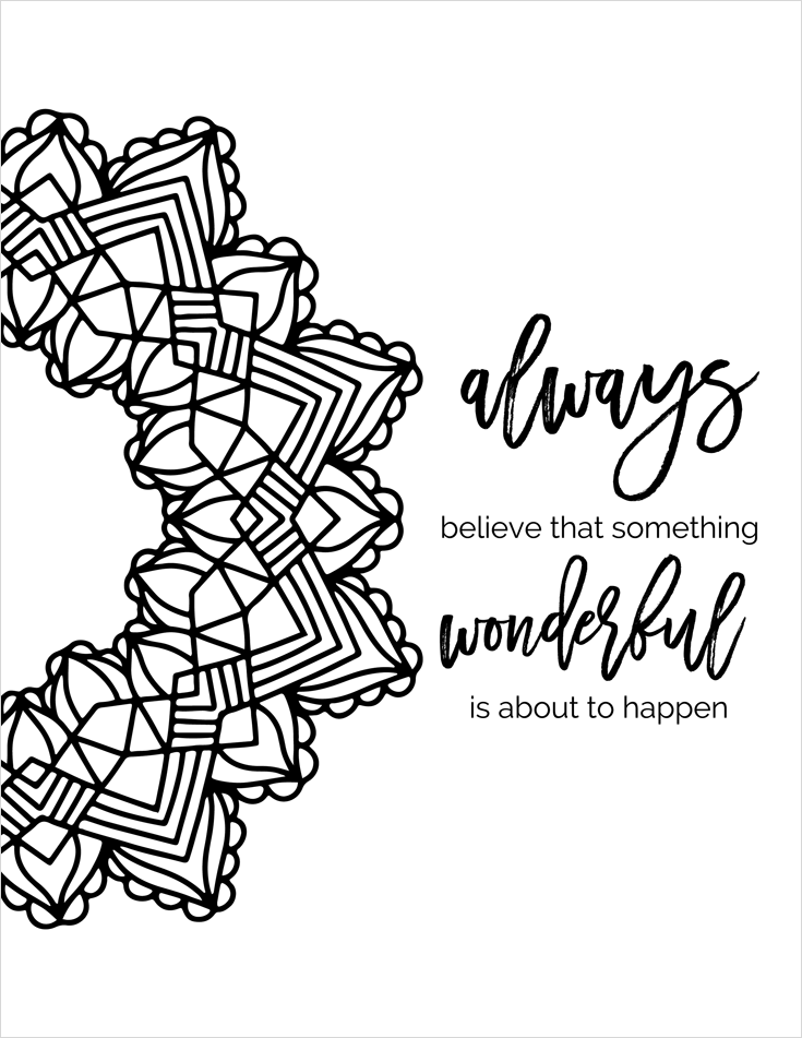 positive quote mandala coloring pages inspirational quotes a positive uplifting by positive pages quote coloring mandala