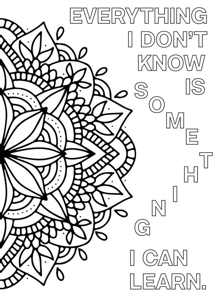 positive quote mandala coloring pages motivational word art coloring page inspirational love positive coloring mandala pages quote