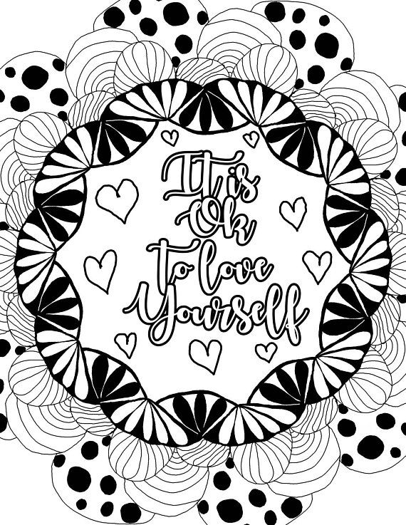 positive quote mandala coloring pages pin on mandala coloring pages for kids mandala quote positive coloring pages
