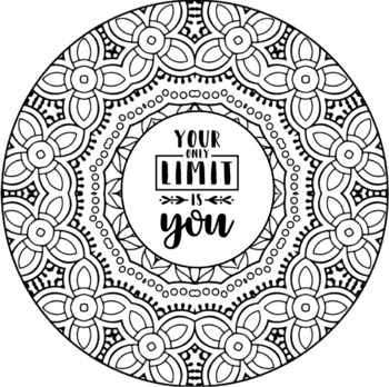 positive quote mandala coloring pages sweet links sunday kleurplaten mandala kleurplaten mandala coloring pages quote positive